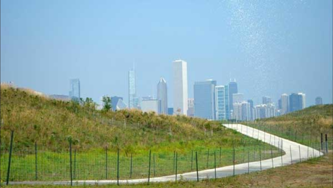 A new park trail that overlooks Northerly Island will open to the public on Friday.