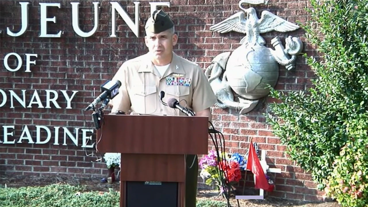 The Marines held a news conference Friday morning at Camp Lejeune