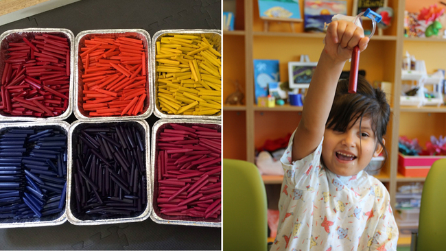 the crayon initiative repurposes restaurant crayons for patients at