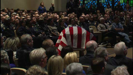 <div class='meta'><div class='origin-logo' data-origin='none'></div><span class='caption-text' data-credit='KTRK Photo/ KTRK'>Harris County Deputy Darren Goforth is remembered in a funeral service at Second Baptist Church in Houston, September 4, 2015.</span></div>