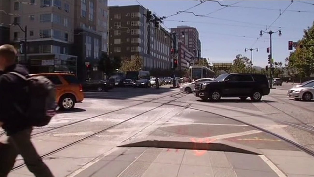 The intersection of Fourth and King streets in San Francisco.