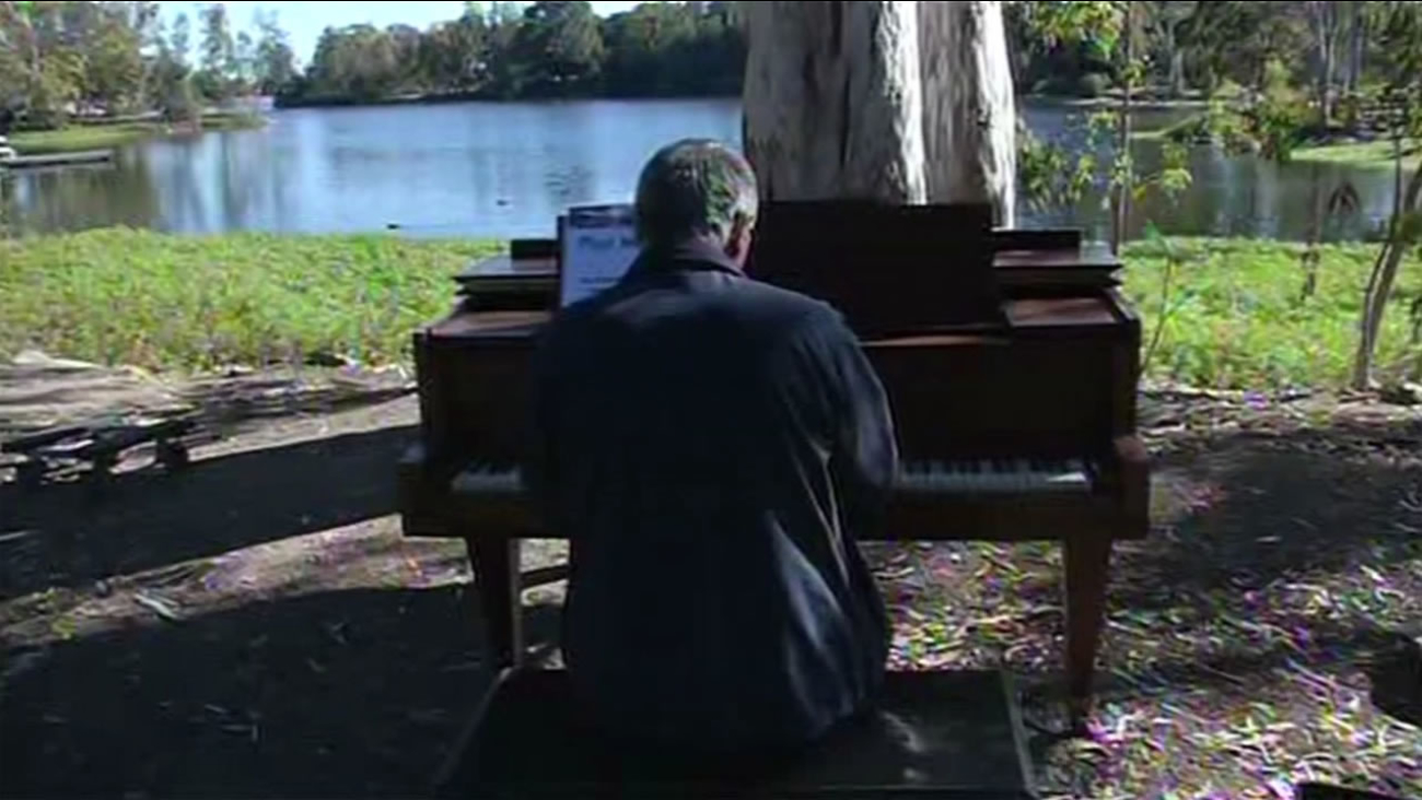 It was the return of Pianos in the Park at Vasona Lake County Park in Los Gatos, Calif., on Saturday, September 5, 2015.