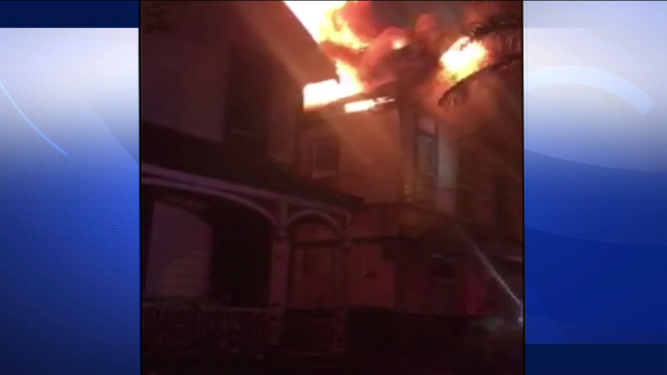Two fires broke at this house on Friday, September 4, 2015, in San Jose, Calif, which left nine students homeless.