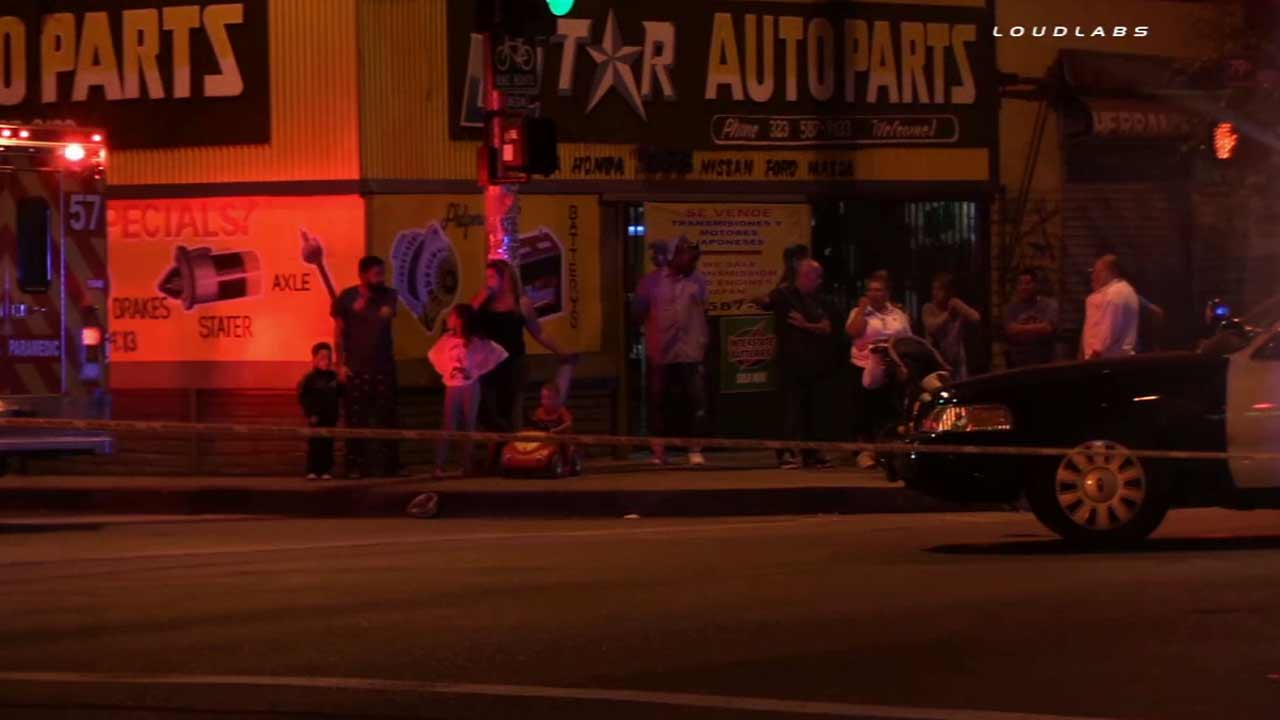 A man was shot and killed in an alley near East 71st Street and North Central Avenue in an unincorporated area of Los Angeles on Sunday, Sept. 6, 2015.