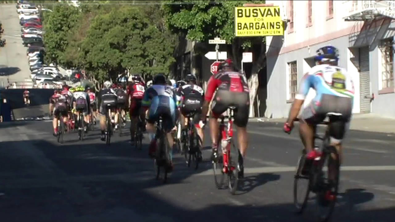 Some of the country's top cyclists competed in the 41st Annual Metro-Mint Giro di San Francisco on Monday, September 7, 2015. (KGO-TV)