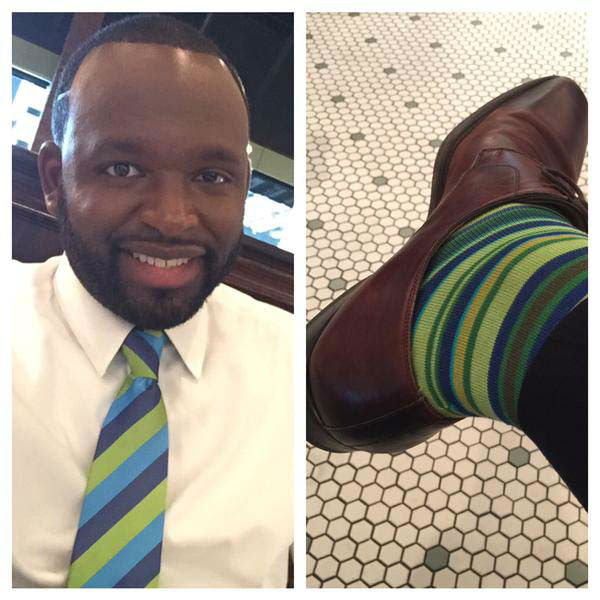 """<div class=""""meta image-caption""""><div class=""""origin-logo origin-image none""""><span>none</span></div><span class=""""caption-text"""">Tracy Clemons matched his socks to his tie! (KTRK Photo)</span></div>"""