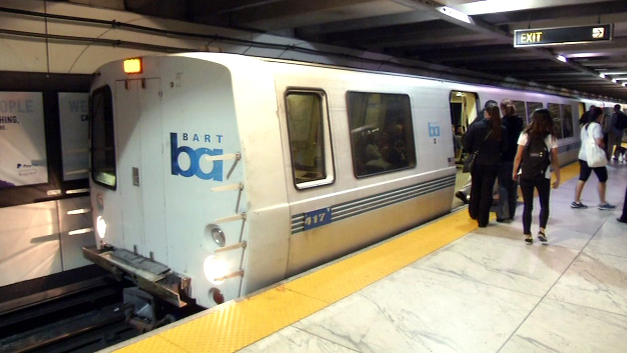 BART train at Embarcadero station in San Francisco, Tuesday, September 8, 2015.