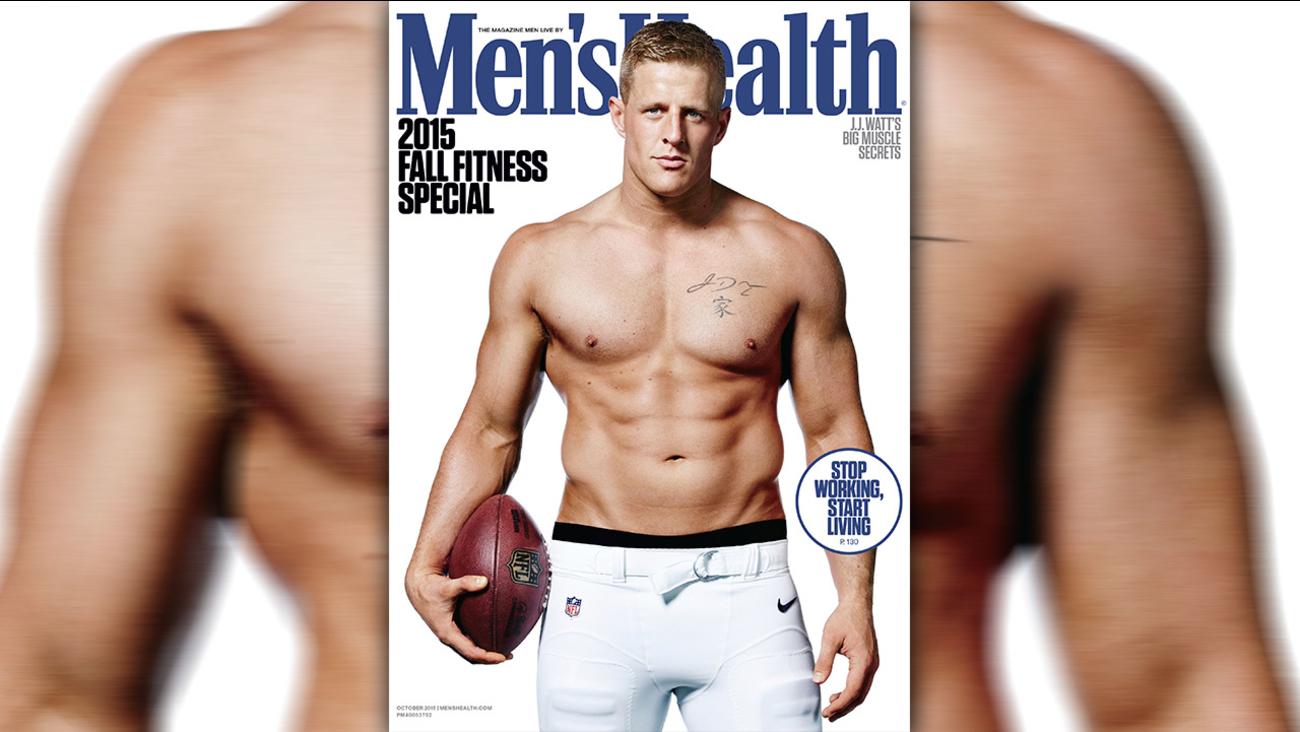 JJ Watt on Men's Health Magazine cover