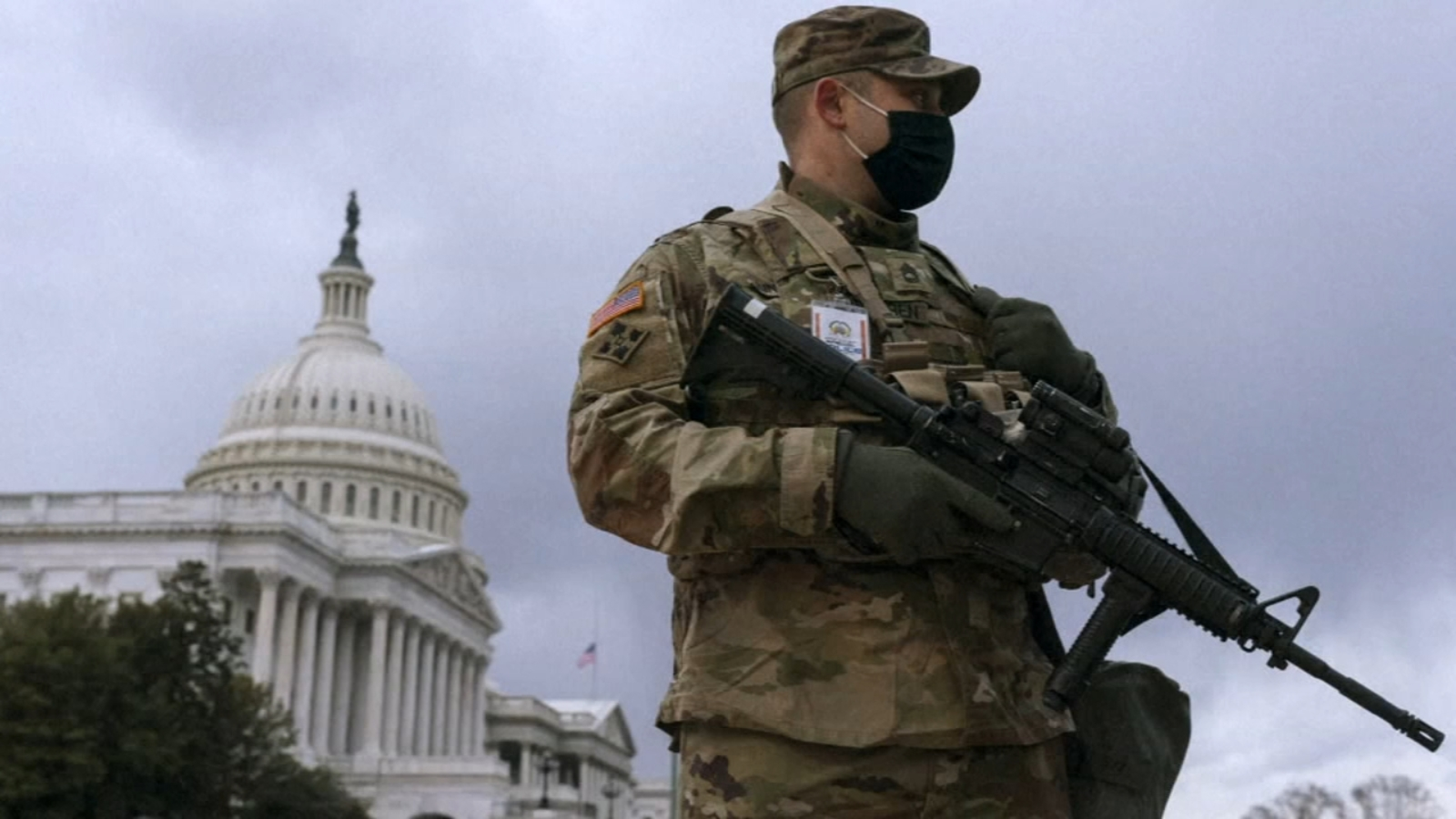 Heavily fortified statehouses around the US see small protests