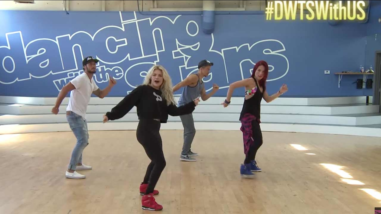 'Dancing With the Stars' pros Val Chmerkovskiy, Witney Carson, Derek Hough and Sharna Burgess teach fans the steps.