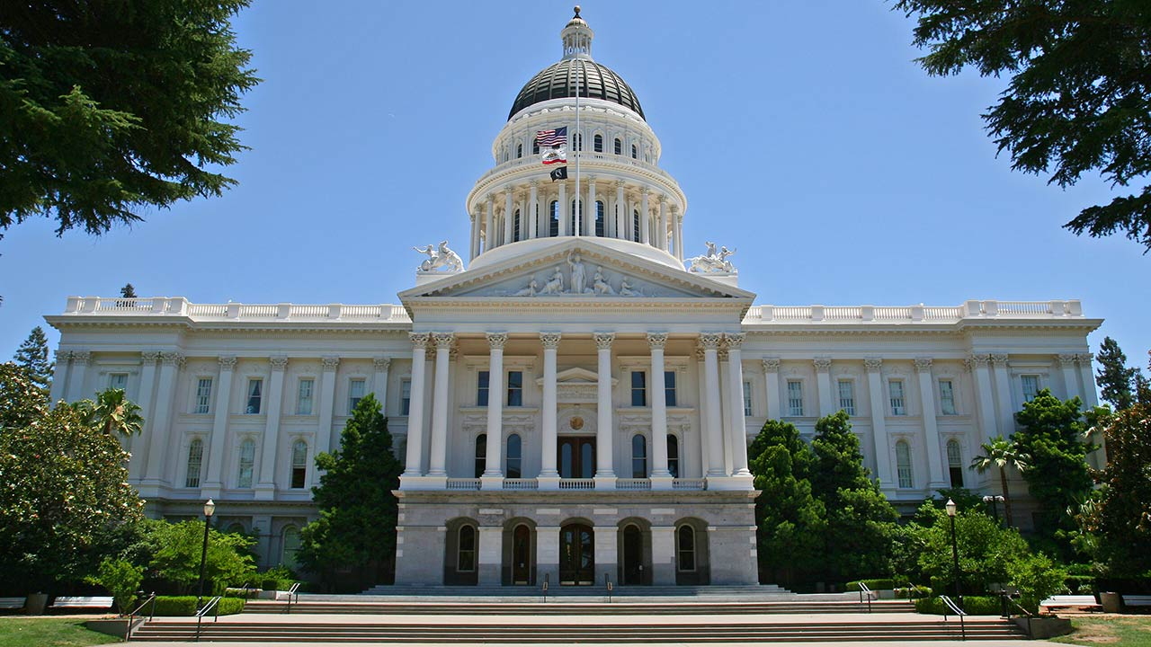 The California State Capitol building in Sacramento is shown in an undated file photo.