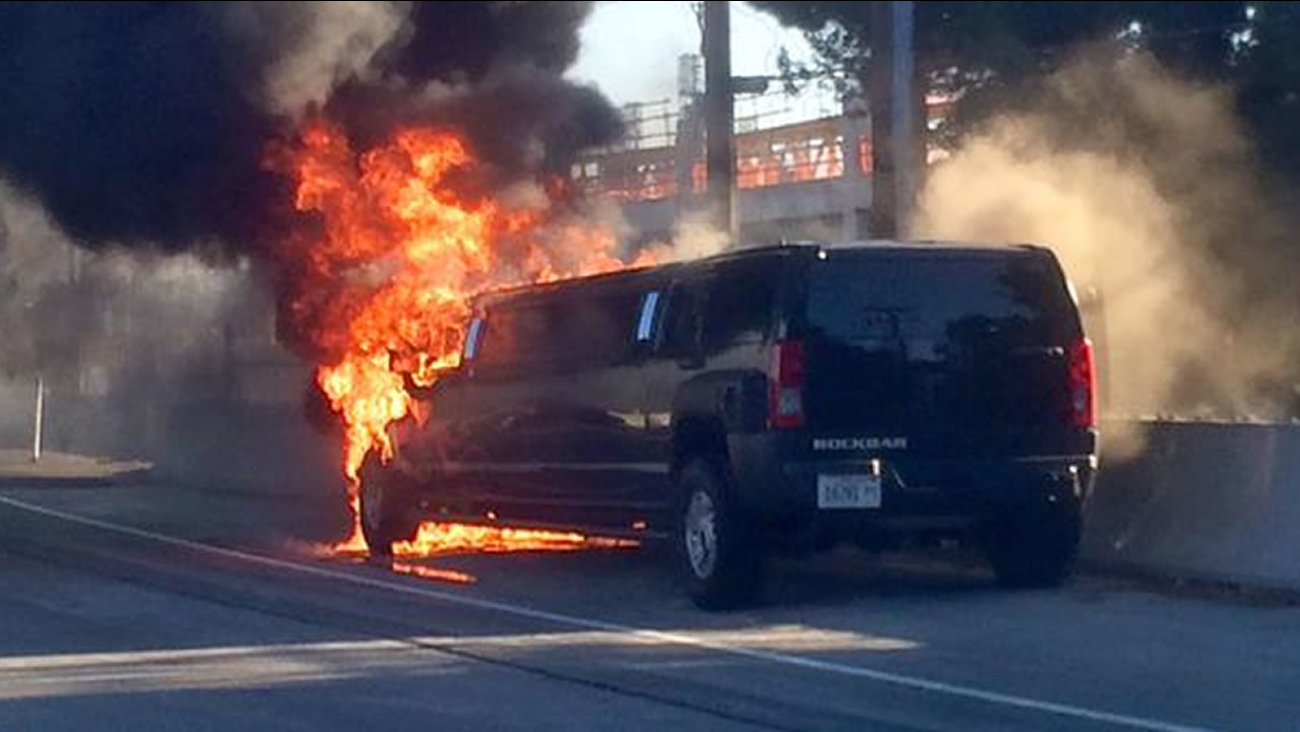 limo on fire