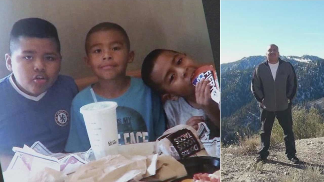 Luigi, Juan and Alexander Fuentes were allegedly fatally stabbed by their father, Luiz Fuentes, in the 300 block of E. 32nd Street in South Los Angeles on Wednesday, Sept. 9, 2015