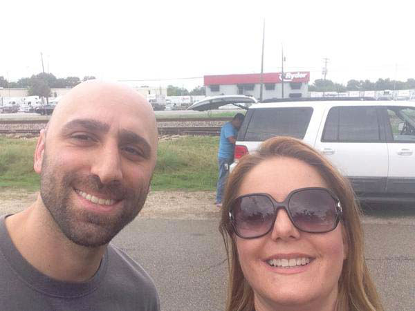 """<div class=""""meta image-caption""""><div class=""""origin-logo origin-image none""""><span>none</span></div><span class=""""caption-text"""">Christine Dobbyn ran into Foti's twin brother while out covering a story (KTRK Photo)</span></div>"""