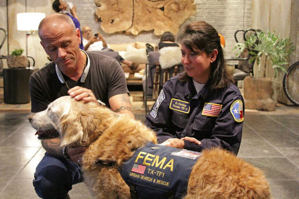 <div class='meta'><div class='origin-logo' data-origin='none'></div><span class='caption-text' data-credit='Photo/BarkPost'>Bretagne is a search-and-rescue dog who, along with handler Denise Corliss, right, helped find survivors in the rubble of the 9/11 terror attacks.</span></div>