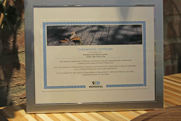 <div class='meta'><div class='origin-logo' data-origin='none'></div><span class='caption-text' data-credit='Photo/BarkPost'>Bretagne was presented with a cobblestone at the 9/11 Memorial in her honor.</span></div>