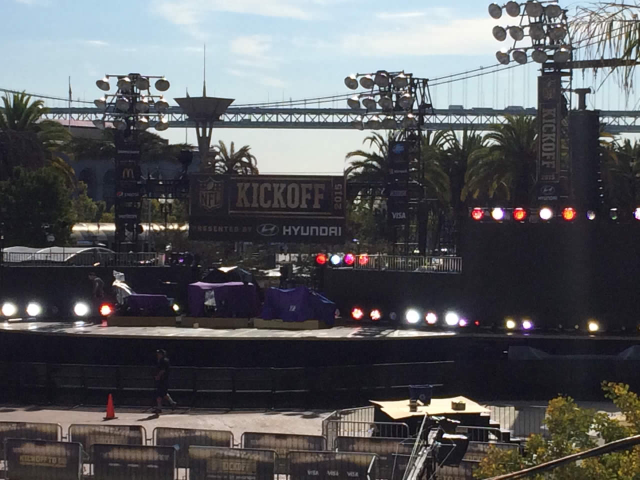 "<div class=""meta image-caption""><div class=""origin-logo origin-image none""><span>none</span></div><span class=""caption-text"">The NFL Super Bowl 50 Host Committee is kicking off the NFL's regular season with a free concert at Justin Herman Plaza in San Francisco, on Thursday, September 10, 2015. (Kimmie Sakamoto/KGO-TV)</span></div>"