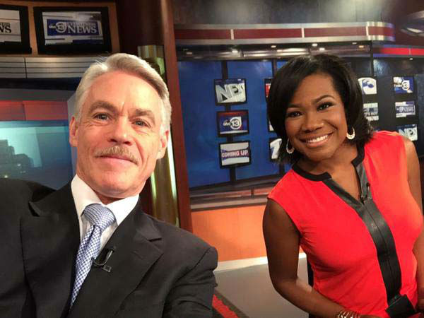 """<div class=""""meta image-caption""""><div class=""""origin-logo origin-image none""""><span>none</span></div><span class=""""caption-text"""">Tom and Samica snapped this selfie with their new iPad on the anchor desk (KTRK Photo)</span></div>"""