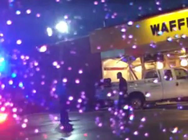 """<div class=""""meta image-caption""""><div class=""""origin-logo origin-image none""""><span>none</span></div><span class=""""caption-text"""">A pickup truck slammed into the front of a Waffle House restaurant off West Little York near Fry Road.</span></div>"""