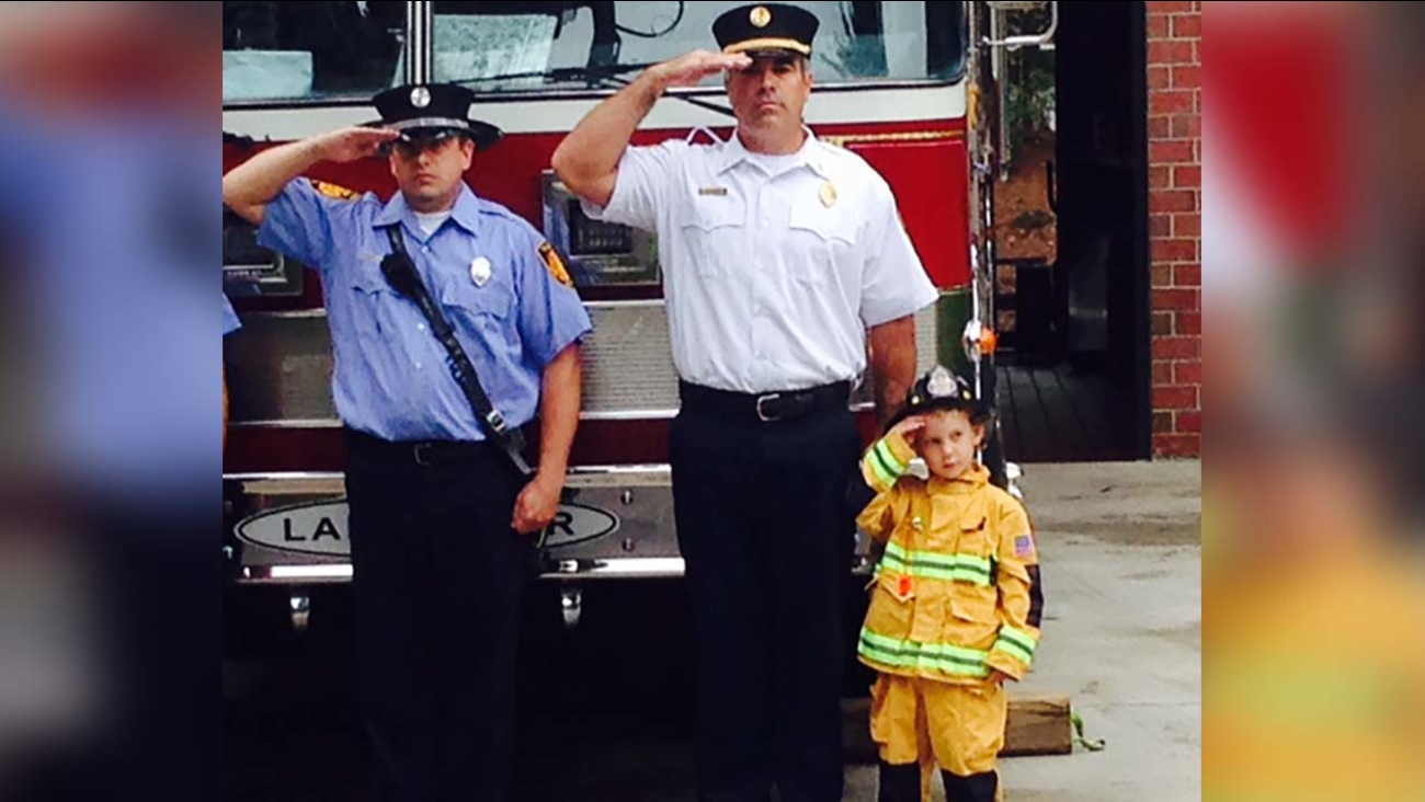 William with the firefighters