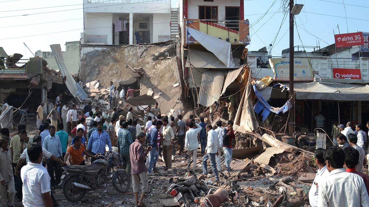 India restaurant explosion