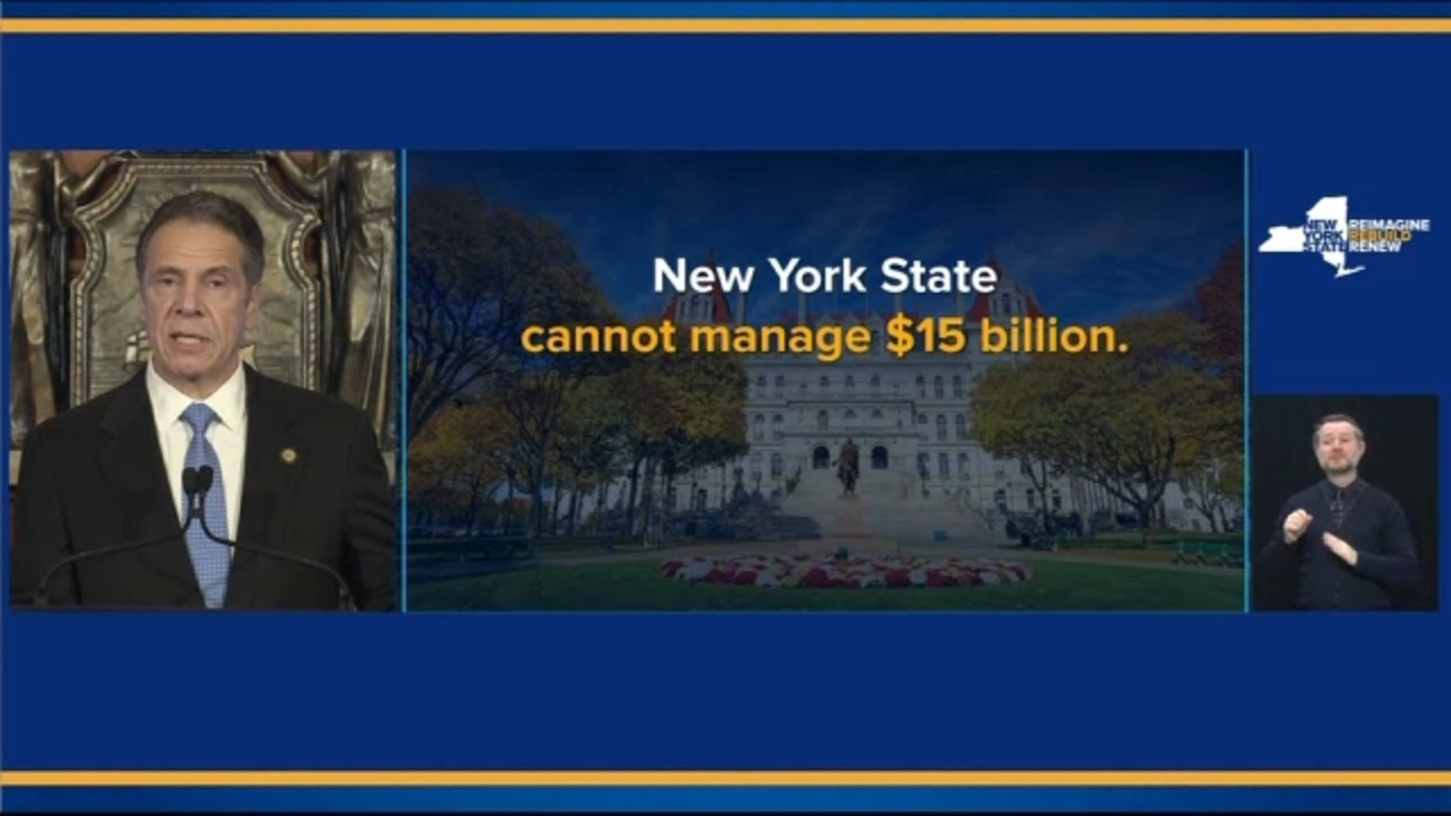NY Gov. Andrew Cuomo presents Fiscal Year 2022 Executive Budget