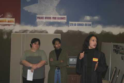 Kamala Harris in her campaign office for District Attorney in San Francisco, 2003.