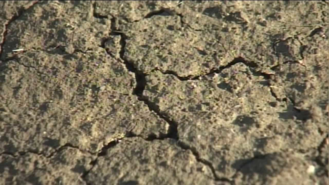 This undated photo shows the dry conditions in California.