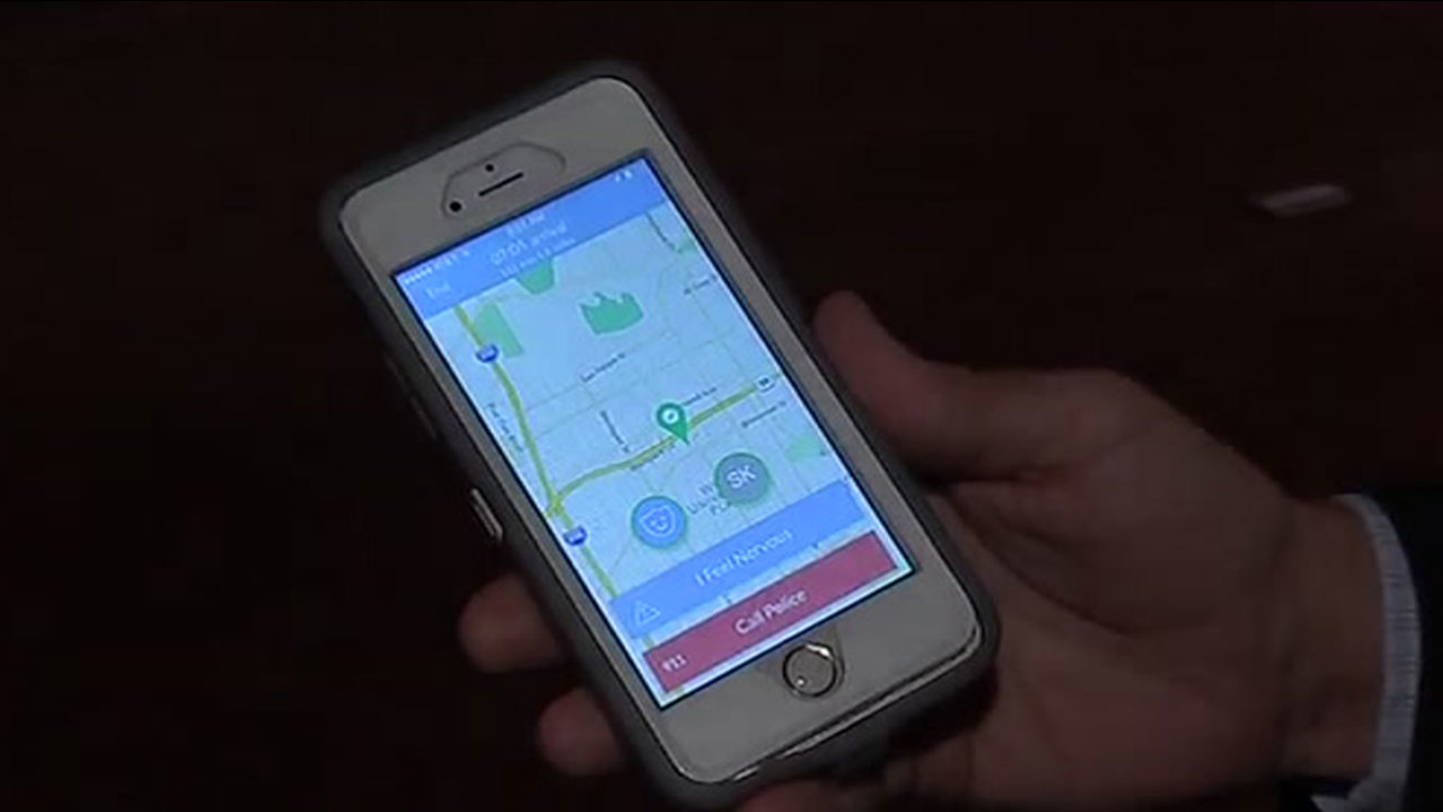 Companion smartphone app for walkers