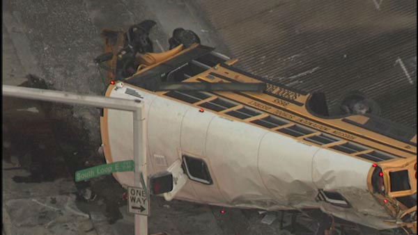 """<div class=""""meta image-caption""""><div class=""""origin-logo origin-image none""""><span>none</span></div><span class=""""caption-text"""">Two students were killed and two others seriously injured when a school bus careened off the 610 South Loop at Telephone Road.</span></div>"""