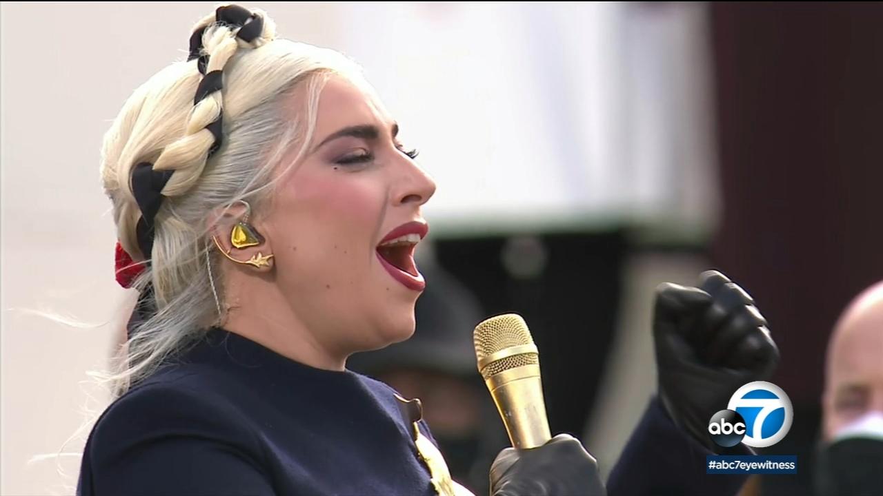 Lady Gaga, Jennifer Lopez and Garth Brooks sing at Biden's inauguration