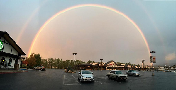 """<div class=""""meta image-caption""""><div class=""""origin-logo origin-image kabc""""><span>KABC</span></div><span class=""""caption-text"""">An ABC7 viewer shared this photo of a rainbow over Big Bear Lake on Tuesday, Sept. 15, 2015. (Mehrdad/ Twitter)</span></div>"""