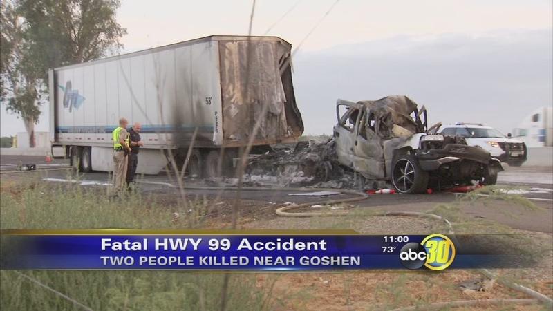 2 Killed In Fiery Crash On Hwy 99 In Goshen Abc30 Com