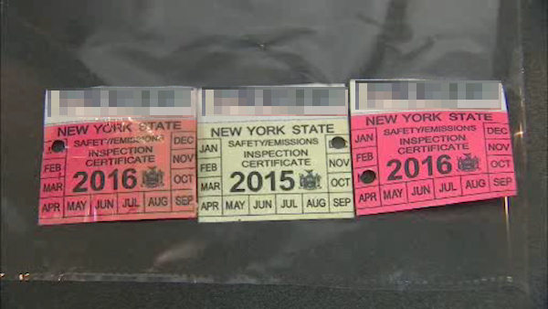 Fake nys inspection sticker