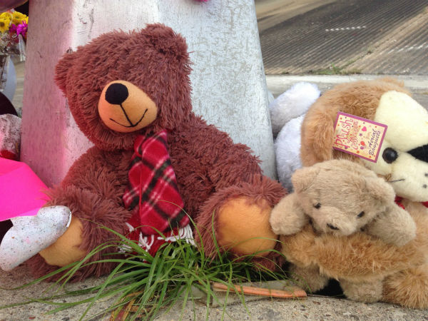 """<div class=""""meta image-caption""""><div class=""""origin-logo origin-image none""""><span>none</span></div><span class=""""caption-text"""">A make-shift memorial is now at the site where two students were killed and two others seriously injured when a school bus careened off freeway.</span></div>"""