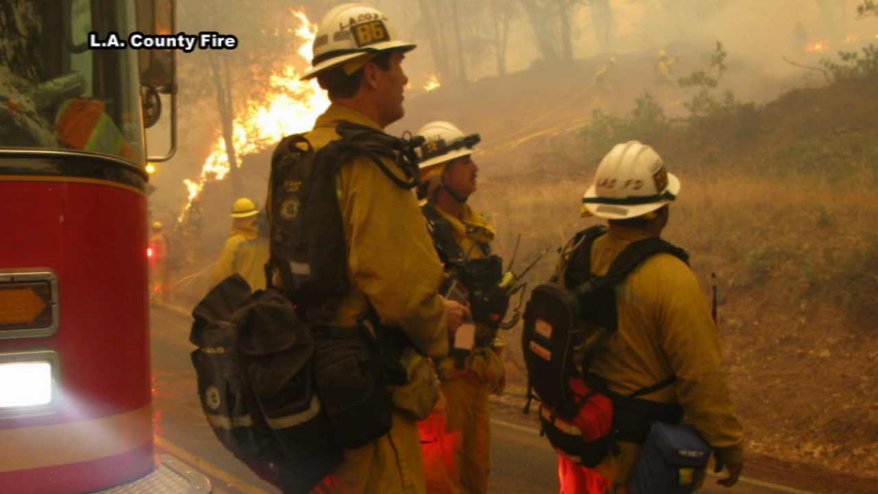 Southern California firefighters crews are being sent to the front lines as hundreds of homes are being threatened by fast-moving wildfires in Northern California.