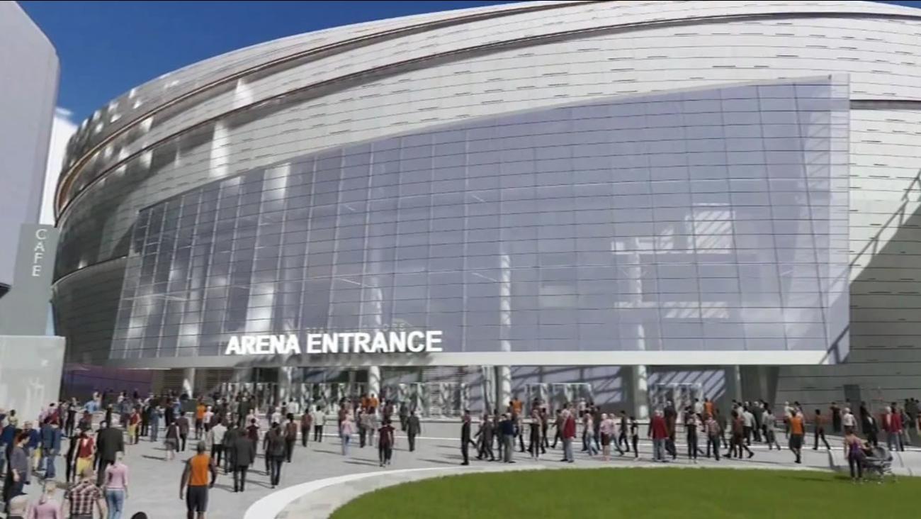 Golden State Warriors arena sketch