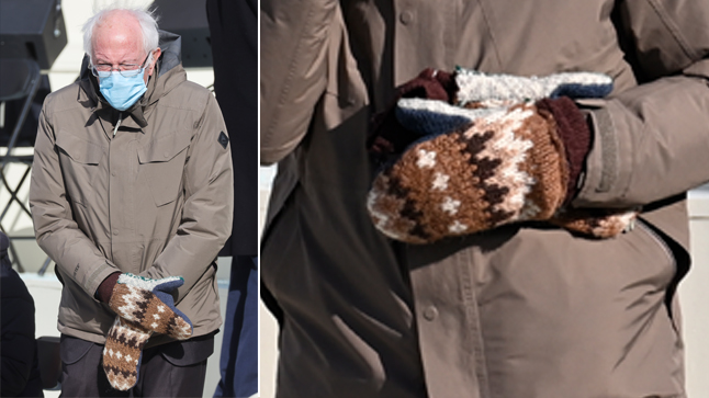 Bernie Sanders' inauguration mittens, made by a Vermont teacher, go viral