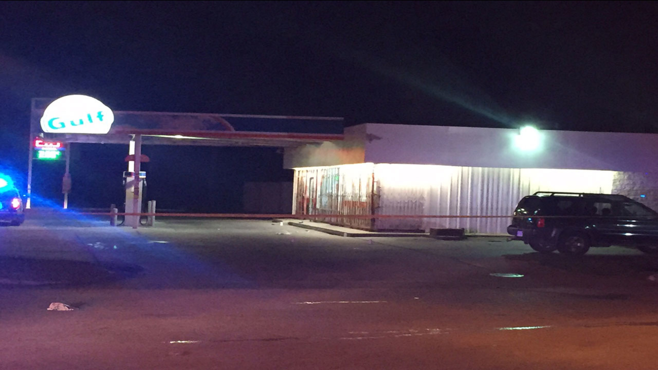 Two men were shot at the Gulf gas station on Yale.
