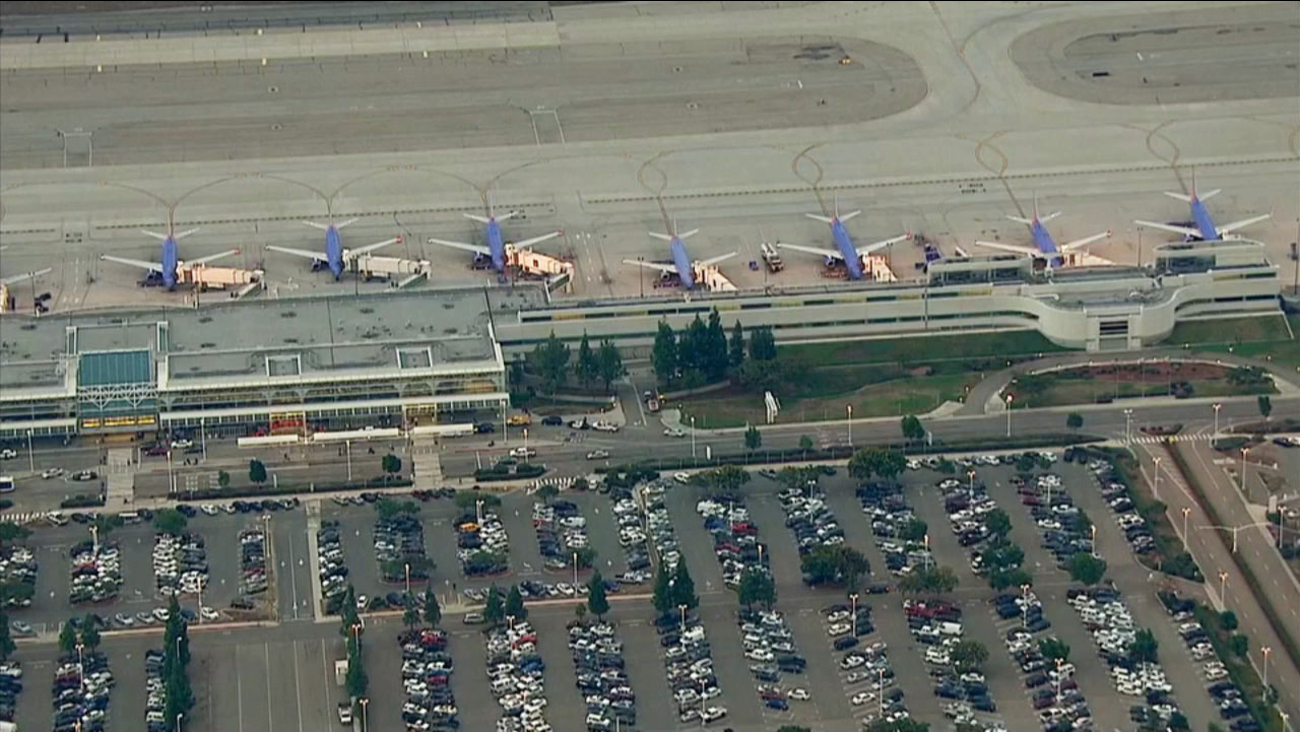A power outage delayed caused flight delays at the Ontario International Airport on Wednesday, Sept. 16, 2015.