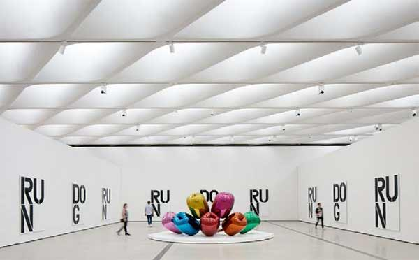 "<div class=""meta image-caption""><div class=""origin-logo origin-image none""><span>none</span></div><span class=""caption-text"">The installation of works by Christopher Wool and Jeff Koons in The Broad's third-floor galleries. (Photo by Bruce Damonte courtesy of The Broad and Diller Scofidio + Renfro)</span></div>"