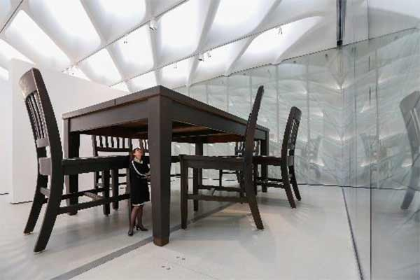 "<div class=""meta image-caption""><div class=""origin-logo origin-image none""><span>none</span></div><span class=""caption-text"">The installation of Robert Therrien's Under the Table, 1994 in The Broad's third-floor galleries. (Photo by Elizabeth Daniels courtesy of The Broad and Diller Scofidio + Renfro)</span></div>"