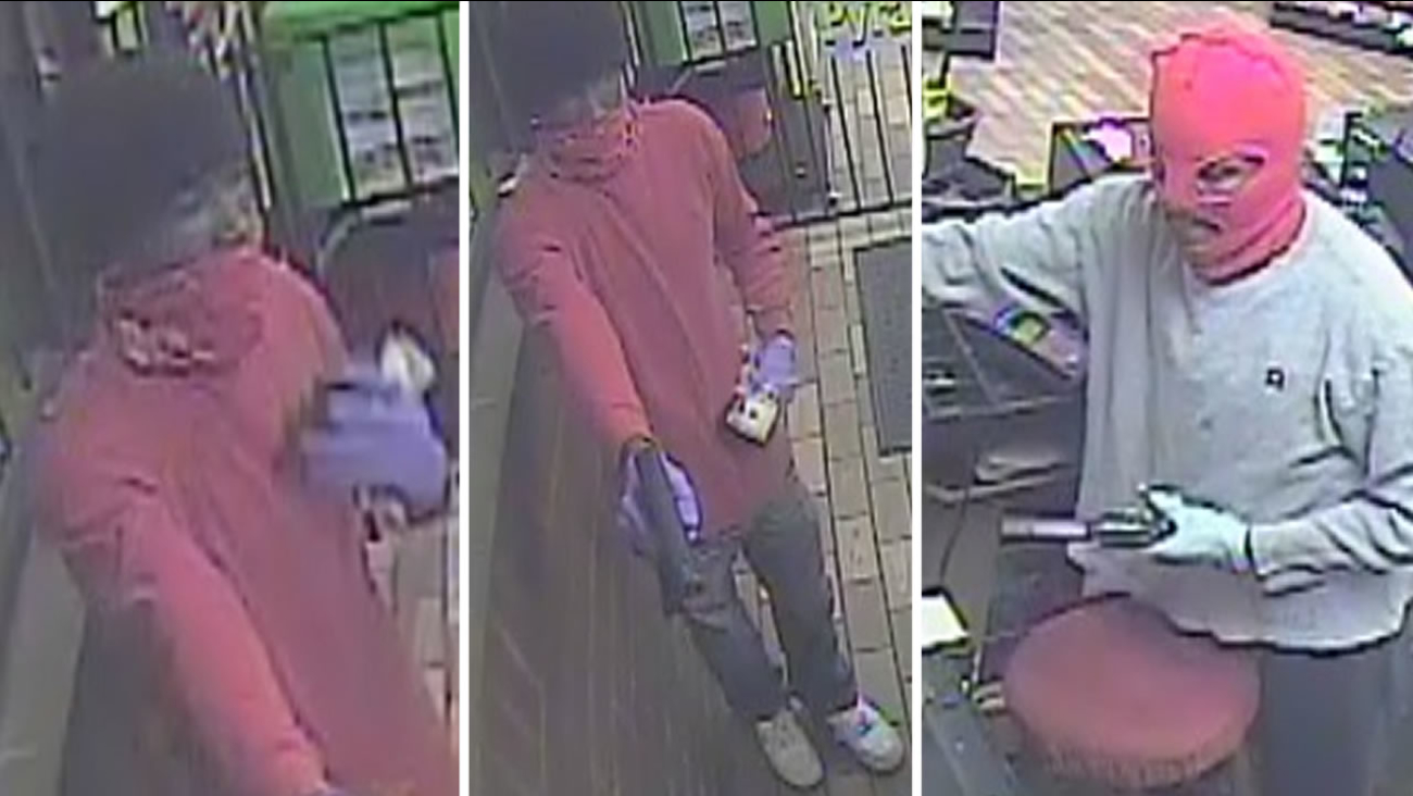 Police released these images of the robbers.