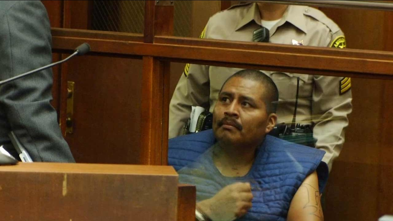 Luiz Fuentes, 33, appears in a downtown Los Angeles courtroom on Wednesday, Sept. 16, 2015.