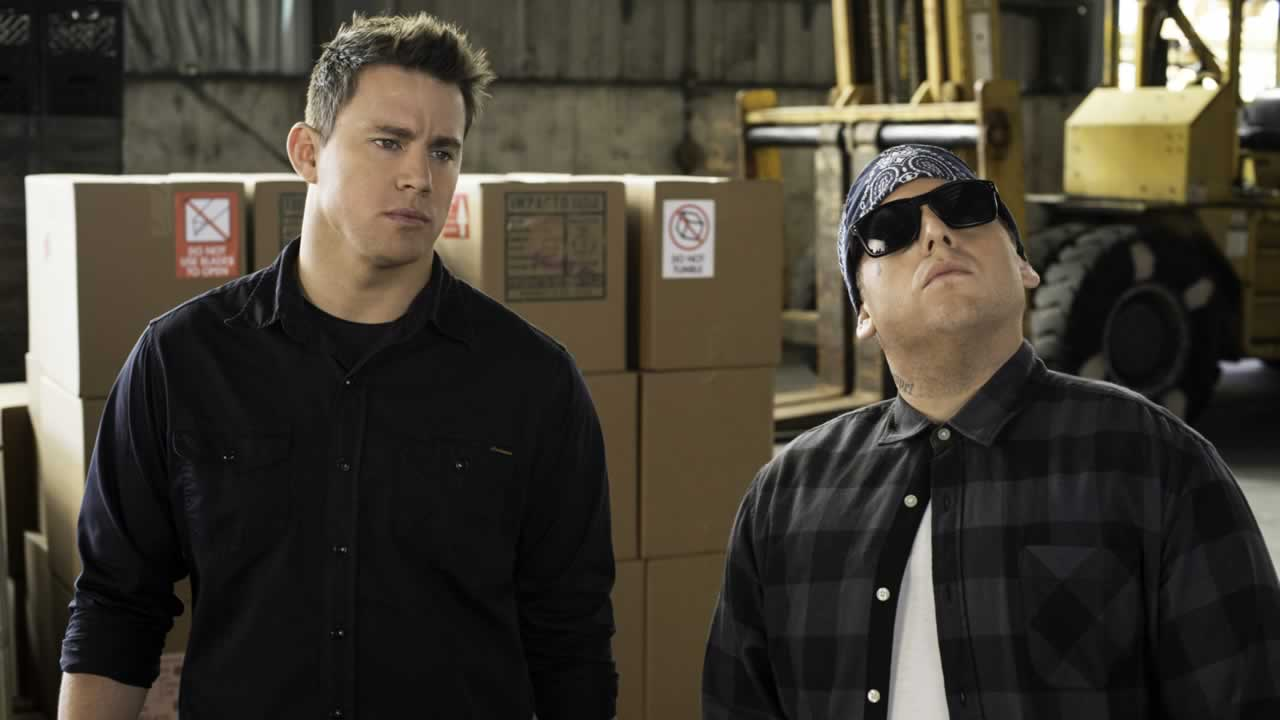 """This image released by Sony Pictures shows Jonah Hill, right, and Channing Tatum in Columbia Pictures' """"22 Jump Street."""""""