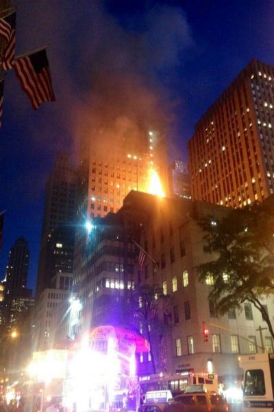 "<div class=""meta image-caption""><div class=""origin-logo origin-image ""><span></span></div><span class=""caption-text"">A fire broke out Friday night at the TGI Fridays at 604 5th Avenue at 48th Street. (WABC Photo)</span></div>"