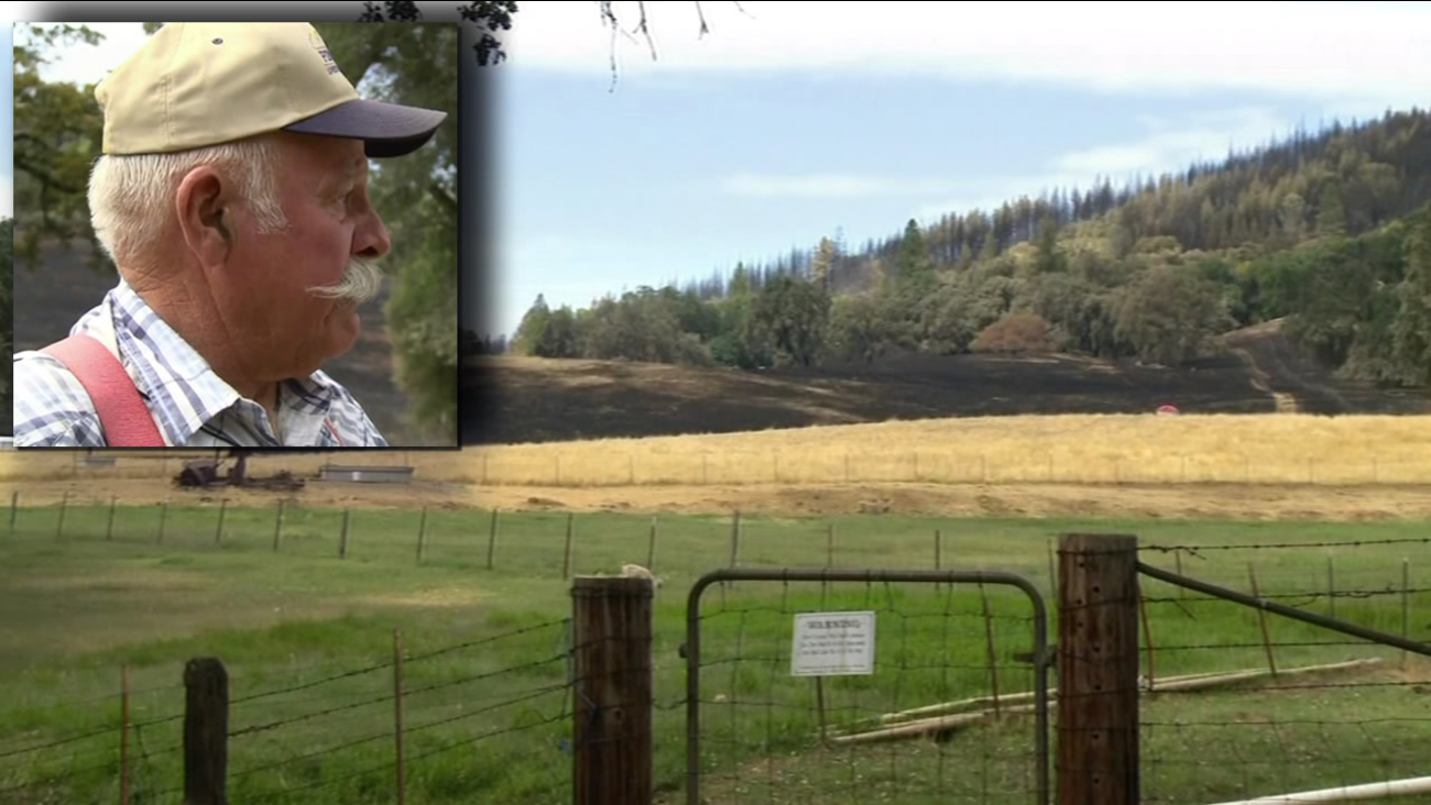 FILE - A man who helped stop the Butte Fire from spreading through a small Calaveras County town named Mountain Ranch is seen in this undated image.
