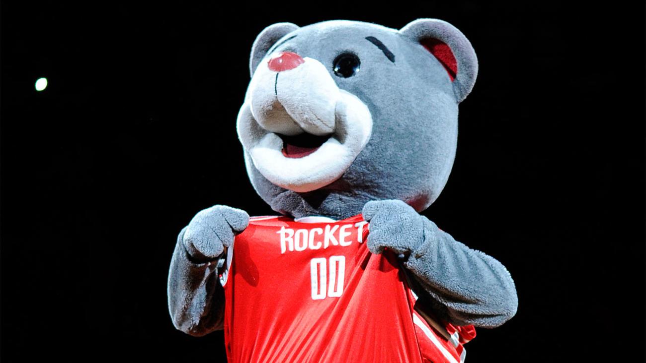 Houston Rockets mascot Clutch