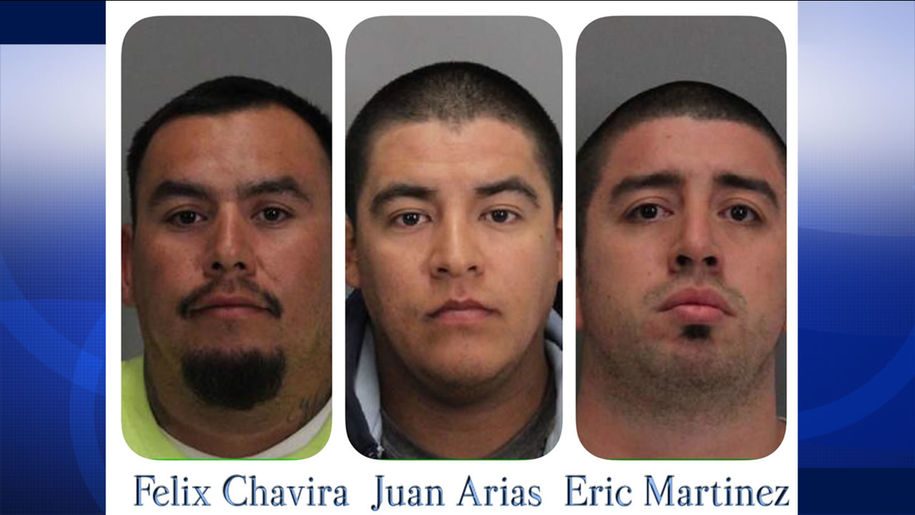Santa Clara police arrested Felix Chavira, Juan Arias, Eric Martinez and a female minor on Friday, September 18, 2015 for allegedly assaulting a Vikings fan after a 49ers game.