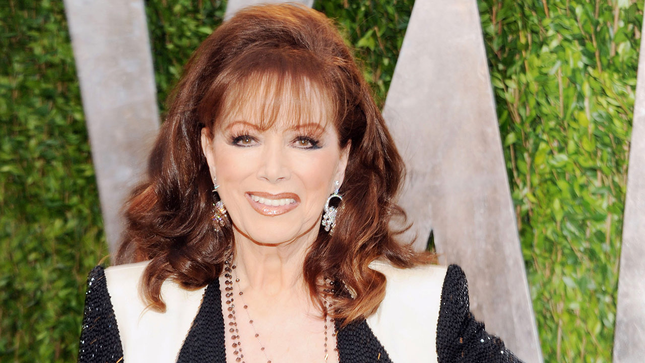 FILE - In this Feb. 24, 2013 file photo, author Jackie Collins arrives at the 2013 Vanity Fair Oscars Viewing and After Party in West Hollywood, Calif.